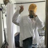 襯衫長袖男春夏韓國ulzzang寬鬆簡約百搭基礎款純色長袖襯衫打底襯衣男女款  夢想生活家