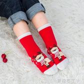 秋冬純棉兒童聖誕襪子加厚保暖毛巾襪禮盒裝男女寶寶新年中長筒襪  一米陽光