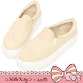 HELLO KITTY X Ann'S 花園系列牛仔布厚底懶人鞋-米