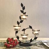 鐵藝蠟燭台情人節浪漫婚慶燭台裝擺件飾品