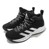 adidas 籃球鞋 Cross Em Up 5 K 寬楦 黑 白 高筒 女鞋 大童鞋 愛迪達 【ACS】 FZ1473