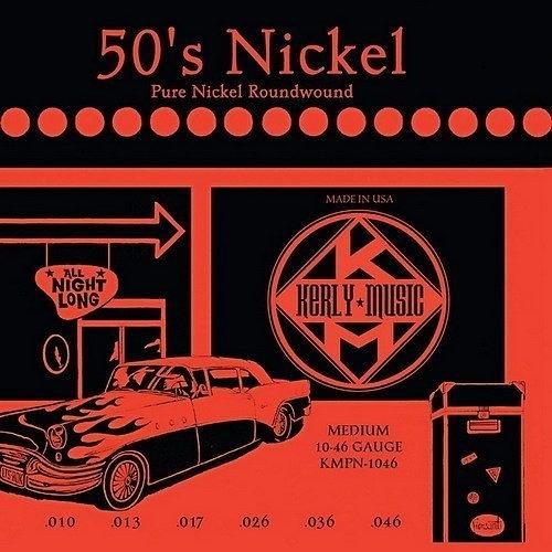 ☆ 唐尼樂器︵☆ Kerly 50's Nickel 系列冰火弦 KMPN-1046 (10-46) 美製純鎳電吉他弦