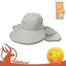 【Wildland 荒野 中性 抗UV可脫式遮陽帽《淺灰》】W1006/吸濕快乾/抗紫外線/透氣網布/可拆式帽頂