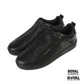 Royal Manhood 黑色 皮質 套入 休閒懶人鞋 男款 NO.B0868【新竹皇家 02093-990】