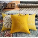 美式現代客廳沙發抱枕枕套床頭腰枕靠墊歐式輕奢黃色臥室床上靠枕QM 依凡卡時尚
