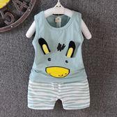 寶寶背心套裝1-2-3歲半夏天休閒衣服  百姓公館