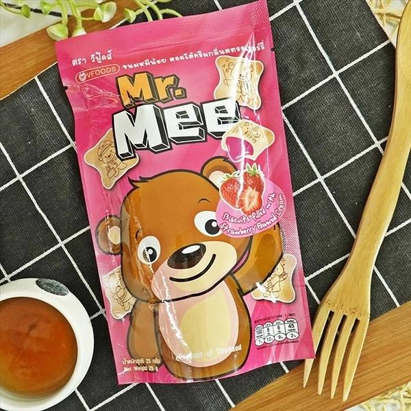蜜蜜熊餅乾-草莓味 25gX3包【8858223011387】(泰國零食)