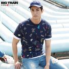 Big Train 潮流滿版印花圓領T-男B80707(領劵再折)