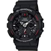 CASIO 卡西歐 G-SHOCK 重機雙顯手錶-紅黑 GA-120-1A / GA-120-1AHDR
