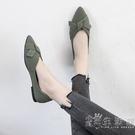 2021春季新款網紅百搭尖頭淺口單鞋女韓版平底仙女風溫柔豆豆鞋子 小時光生活館