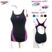 [買一送二]SPEEDO 女人運動連身平口泳裝 Monogram SD809226A028 送BIOFUSE泳鏡+矽膠泳帽