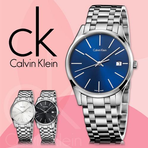 CK手錶專賣店 K4N2314N 女錶 石英 藍面 藍寶石水晶玻璃鏡面 不鏽鋼錶殼 按動式蝴蝶扣