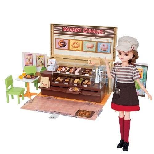 下殺63折《TAKARA TOMY》LICCA 莉卡  Mister Donut 甜甜圈禮盒組╭ ★ JOYBUS玩具百貨