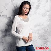 BOBSON 女款燙貼鋁片上衣(35071-81)