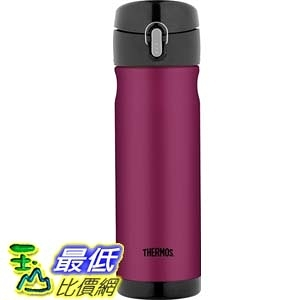 [104美國直購] Thermos Stainless Steel Commuter Bottle, 16-Ounce, Raspberry 保溫杯