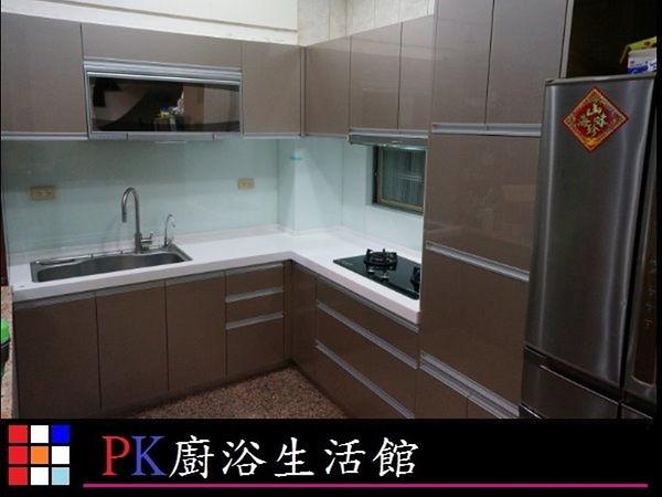 ❤ PK廚浴生活館 ❤ 高雄 流理台 廚具 LG台面 白鐵桶身 水晶門板 崁入手把※實體店面