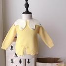 女童針織洋氣套頭毛衣上衣公主風嬰兒童毛衣寶寶可愛潮【小獅子】