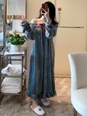 睡裙女冬珊瑚絨長款加厚保暖韓版睡袍法蘭絨長袖性感睡衣女秋冬季