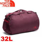 【The North Face 32L 輕量多功能裝備袋 深石榴紅/紅】NF00CJ3A/旅行袋/行李袋★滿額送