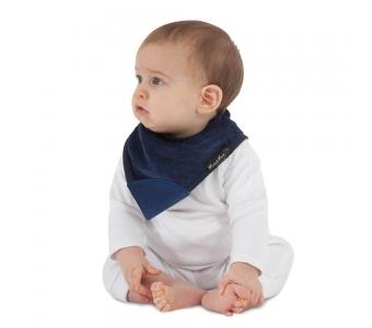 紐西蘭 Mum 2 Mum 機能型神奇三角口水巾咬咬兜-深藍 吃飯衣 口水衣 防水衣