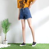 寬鬆牛仔短褲女夏2018新款韓版顯瘦熱褲女夏高腰a字薄款chic短褲 草莓妞妞