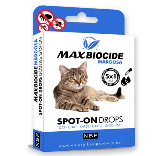 [寵樂子]西班牙NBP新型苦楝精油貓用避免蟲蚤滴劑(5劑入)/ 天然成分 / 安全無毒