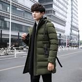 時尚夾克外套加絨 百搭加厚男生外套 男士外套厚款 日系韓版外套羽絨外套 連帽純色冬季潮流棉服