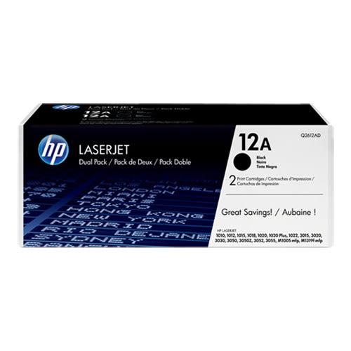 HP Q2612AD 原廠黑色碳粉匣(雙包裝)