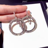618好康鉅惠 鑲?大小耳圈女韓國個性氣質耳墜圓圈耳環