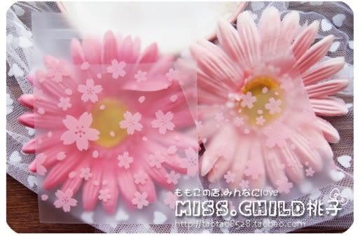 95入 粉色櫻花 餅乾袋 月餅袋 手工皂袋D030