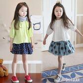 夏季女童新款娃娃衫 韓版2019中大兒童t恤上衣七分袖 寶寶夏裝t衫  LN5456【甜心小妮童裝】