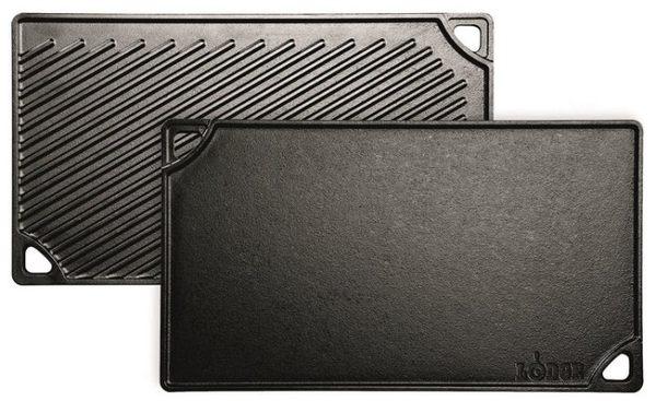 美國 Lodge 鑄鐵雙面牛排煎盤 42.5*24cm
