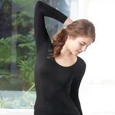 【曼黛瑪璉】2015AW素面圓領保暖衣M-XL (黑)(未滿2件恕無法出貨,退貨需整筆退)
