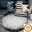 圓形地毯北歐簡約家用臥室沙發墊子【小獅子】