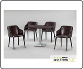 海中天休閒傢俱廣場G 02 摩登 餐廳系列379 1A 胡桃色2x3 5 尺桌椅組一桌四椅