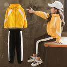 女童冬裝套裝免運新款韓版中大兒童冬季校服運動加絨衛衣兩件套