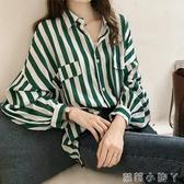 心機上衣襯衣女春裝仙女范雪紡襯衫韓版很仙的洋氣設計感小眾 蘿莉小腳丫
