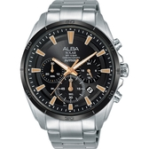 ALBA 雅柏 Solar 太陽能機芯限定款計時手錶-44mm VR42-X014K(AZ5001X1)