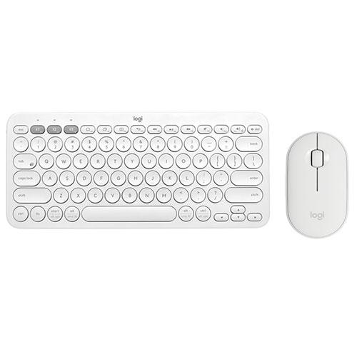 【限時至0919】 Logitech 羅技 K380+M350 無線藍芽鍵鼠組 珍珠白 玫瑰粉 送滑鼠墊不挑款