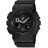 CASIO 卡西歐 G-SHOCK 重機雙顯手錶 GA-100-1A1 / GA-100-1A1HDR