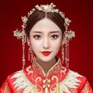 限定款新娘造型古裝頭飾秀禾服旗袍配飾中式...