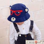 嬰兒帽棉男寶寶帽子漁夫帽春夏秋遮陽