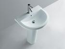 【麗室衛浴】洗臉盆 英國 LIVING  2430  壁掛式面盆