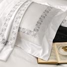 鴻宇 SUPIMA500織 歐式壓框枕套2入 清雅春芽 刺繡白M2657