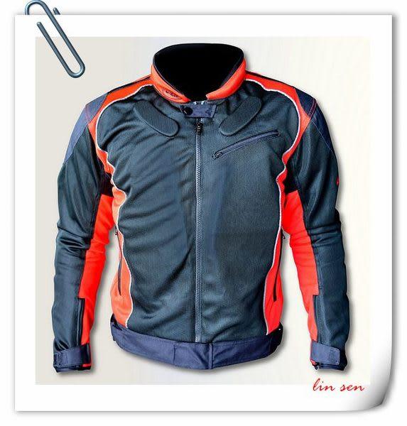 LAZER防摔衣,Z-1,Z1,黑/紅,四季型防摔衣含五件式護具