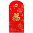 R06植絨紅包袋(4入)--勝億春聯年節飾品紅包袋批發
