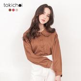 東京著衣-tokichoi-溫柔婉約多色排釦抽繩造型上衣-S.M(182089)