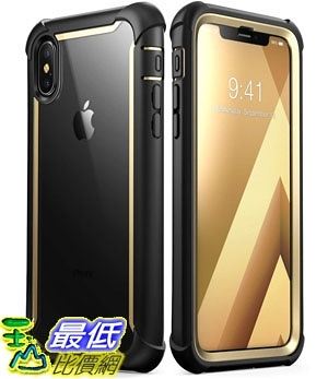 手機保護殼 iPhone Xs Case, iPhone X Case, i-Blason [Ares] Full-Body Rugged Clear Bumper B07HHYKFMB