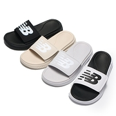 NEW BALANCE 拖鞋 黑 奶茶 白 淺灰 軟Q底 黏帶 韓製 很好穿 拖鞋 (布魯克林) SD1501-