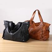 【Solomon 原創設計皮件】真皮特大肩背包 牛皮側背包 旅行包袋 附背帶可拆